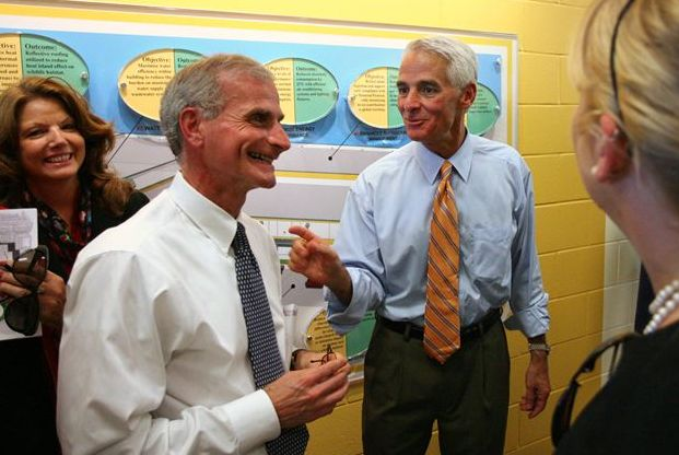 Mike Fasano (Center) and Charlie Crist -Tampa Bay Times